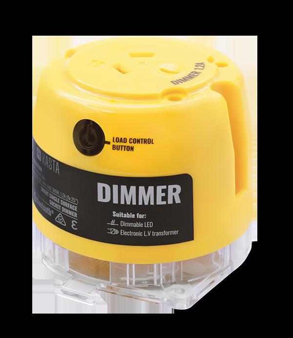 Smart control dimmer surface socket