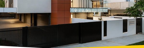 Door and gate control category feature lifestyle image of modern multi-residential building